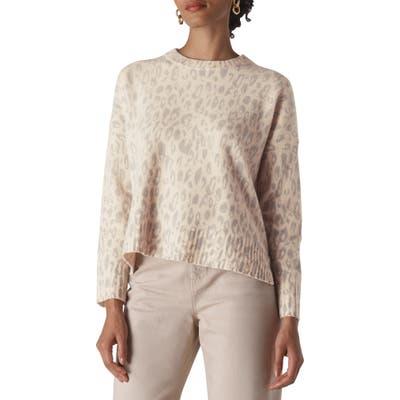 Whistles Freida Animal Pattern Merino Wool Sweater, Ivory
