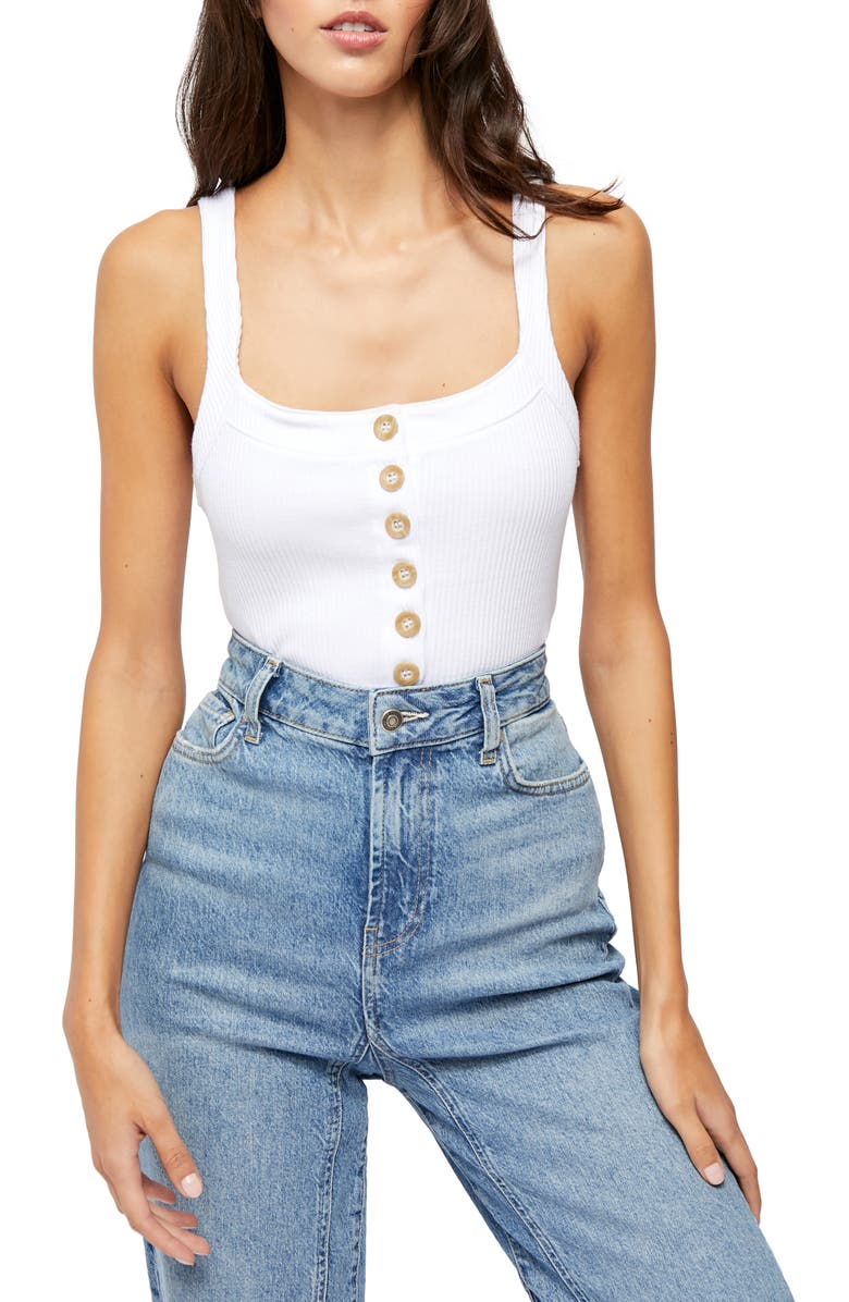 FREE PEOPLE Bridgette Tank, Main, color, PAINTED WHITE