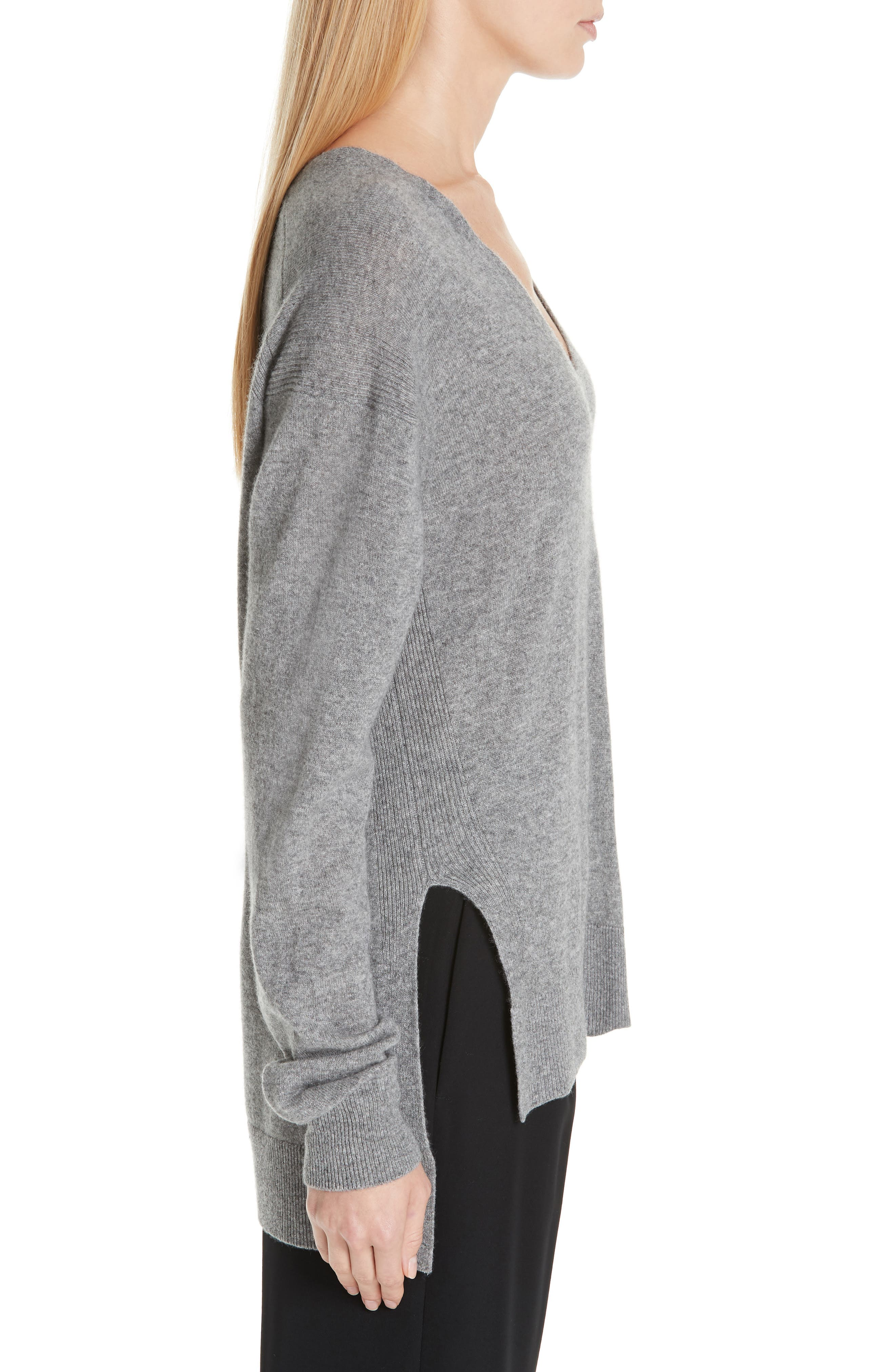 ,                             Wool & Cashmere V-Neck Sweater,                             Alternate thumbnail 3, color,                             062