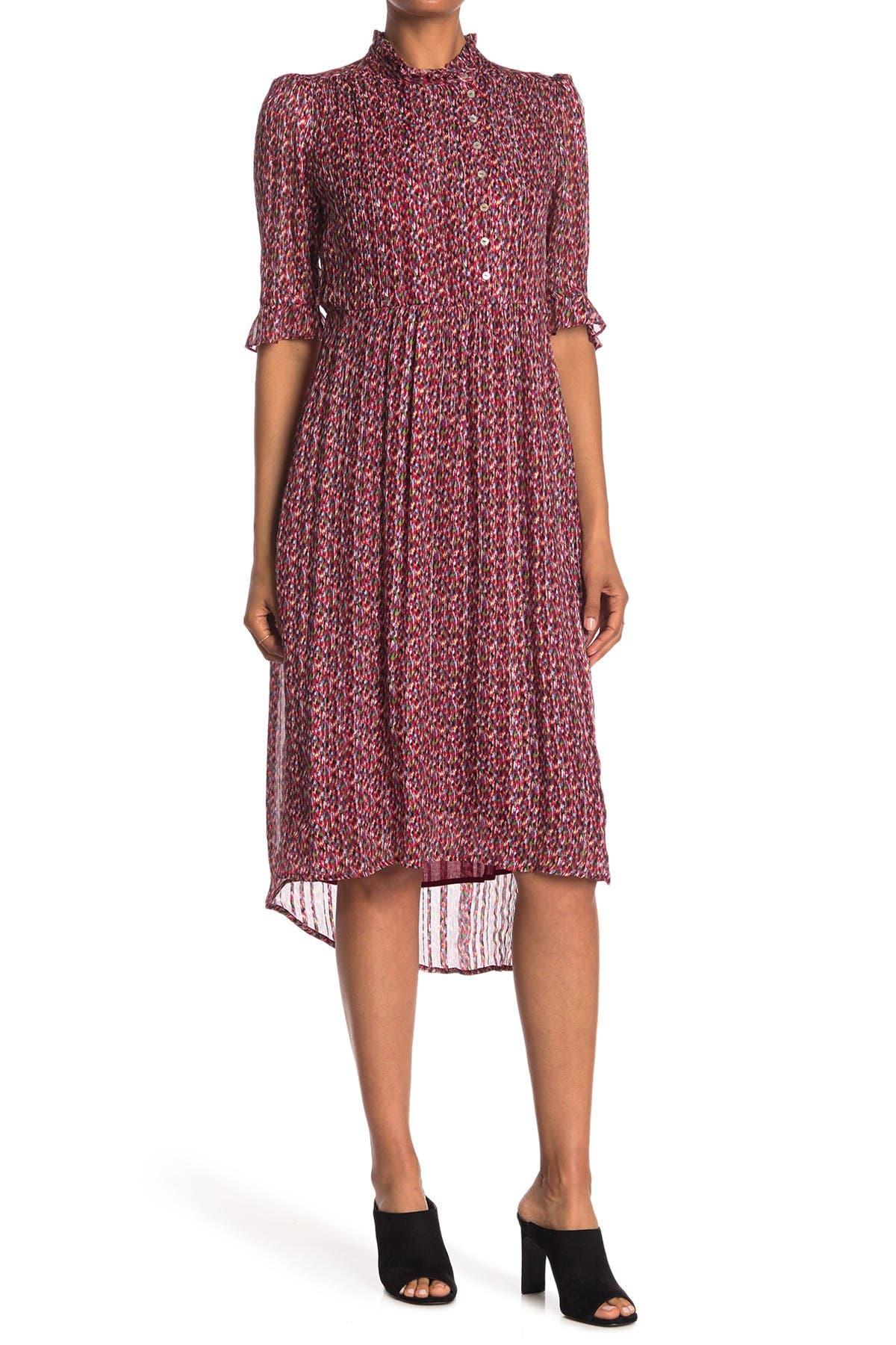 ba&sh Dale High/Low Silk Blend Dress at Nordstrom Rack