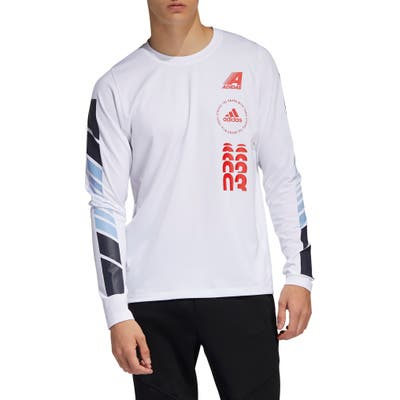 Adidas Moto Pack Freelift Long Sleeve T-Shirt, White
