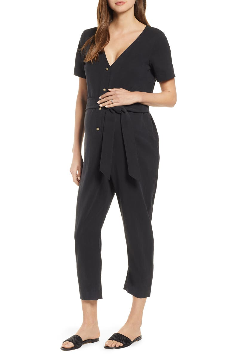 HATCH Noelle Jumpsuit, Main, color, BLACK