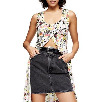 Topshop Midsummer Floral Print Sundress, US (fits like 14) - Pink