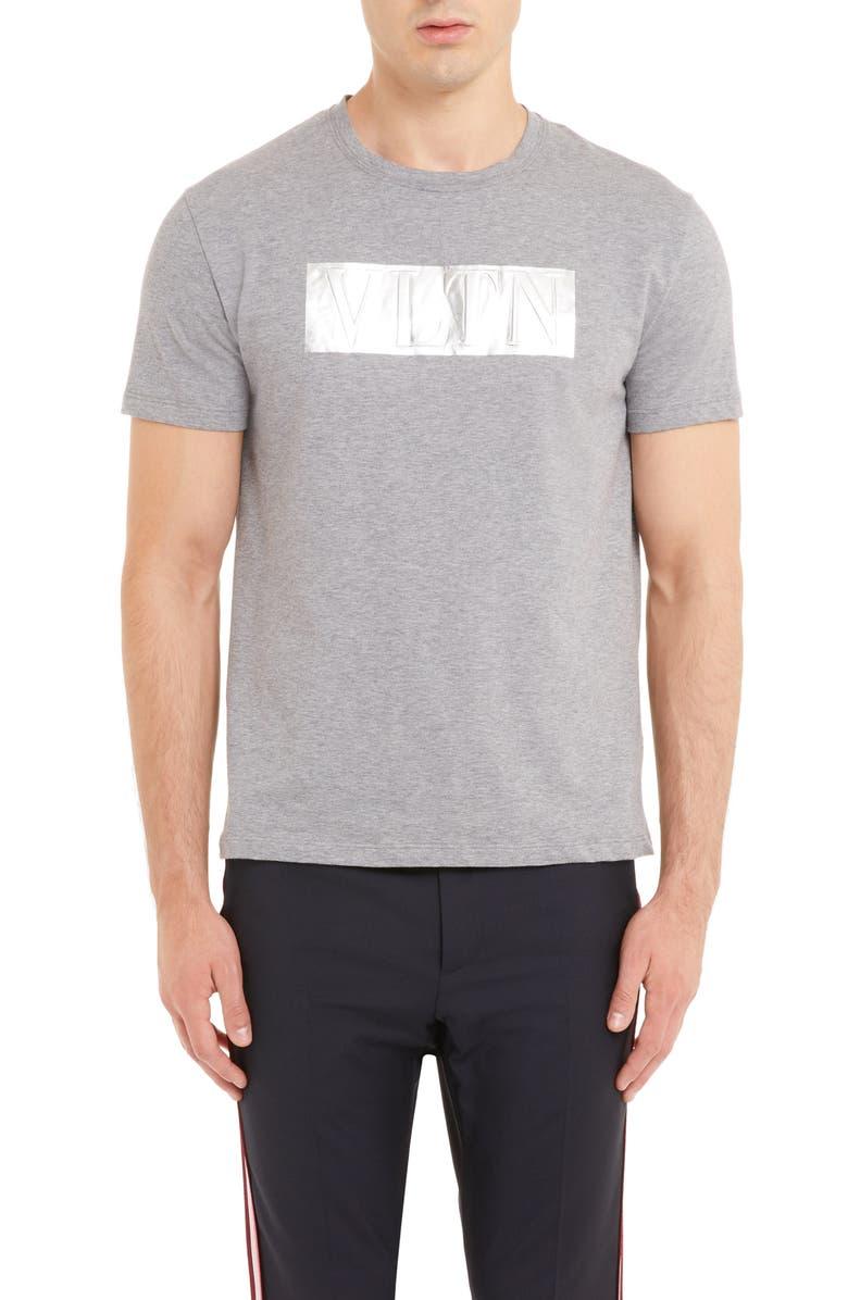 VALENTINO VLTN Logo T-Shirt, Main, color, GRIGIO MELANGE