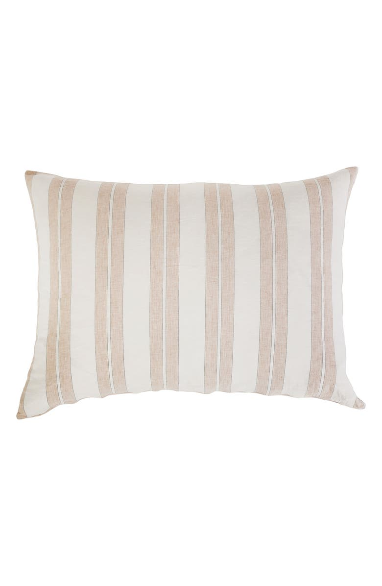 POM POM AT HOME Carter Stripe Sham, Main, color, IVORY/ AMBER