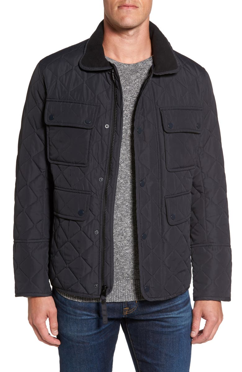MARC NEW YORK Canal Quilted Barn Jacket, Main, color, 001