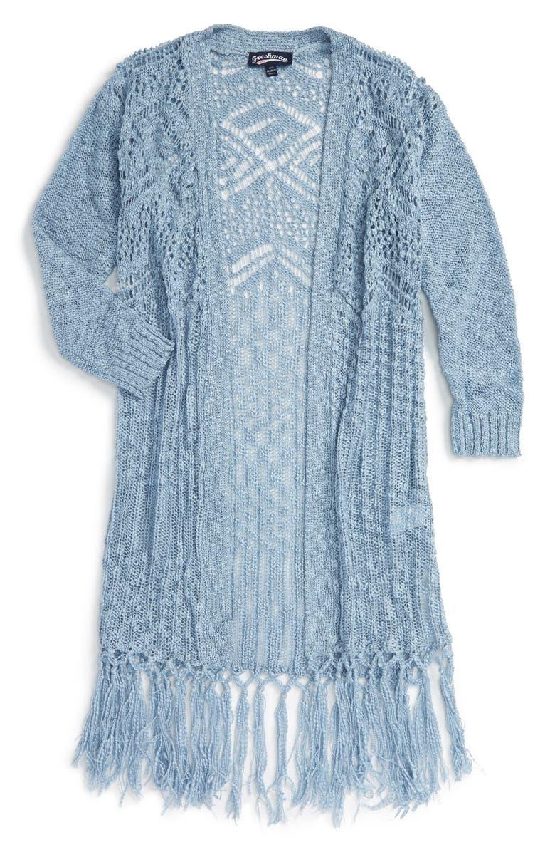 FRESHMAN Knit Fringe Sweater, Main, color, 400