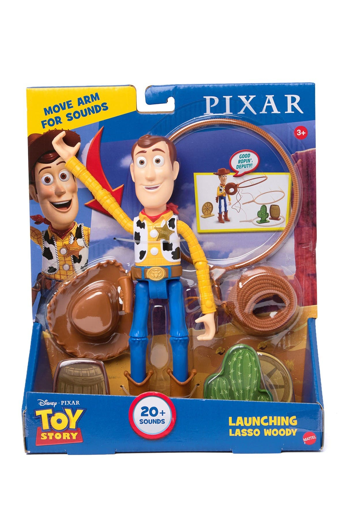 Image of Mattel Disney Pixar Toy Story Launching Lasso Woody
