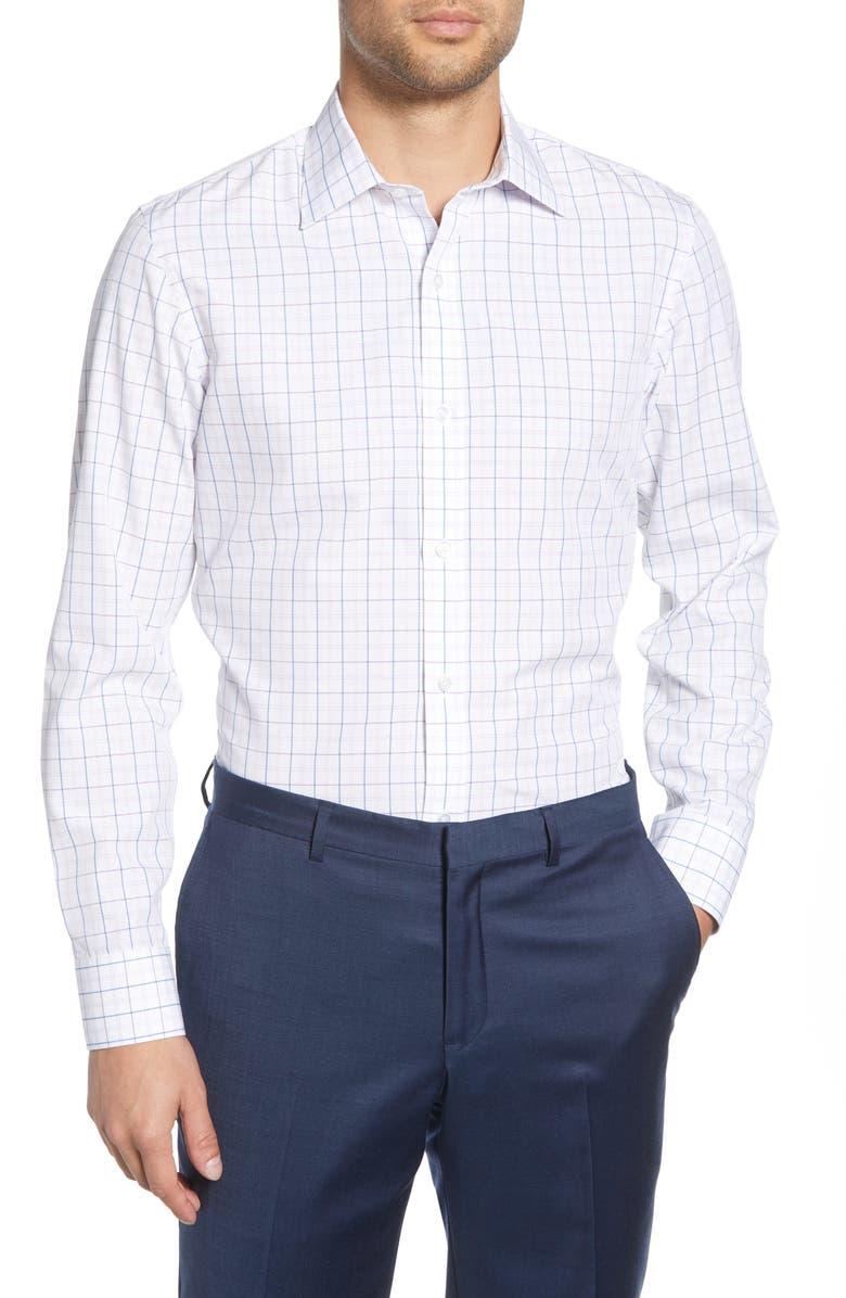 BONOBOS Surfside Slim Fit Check Dress Shirt, Main, color, 500