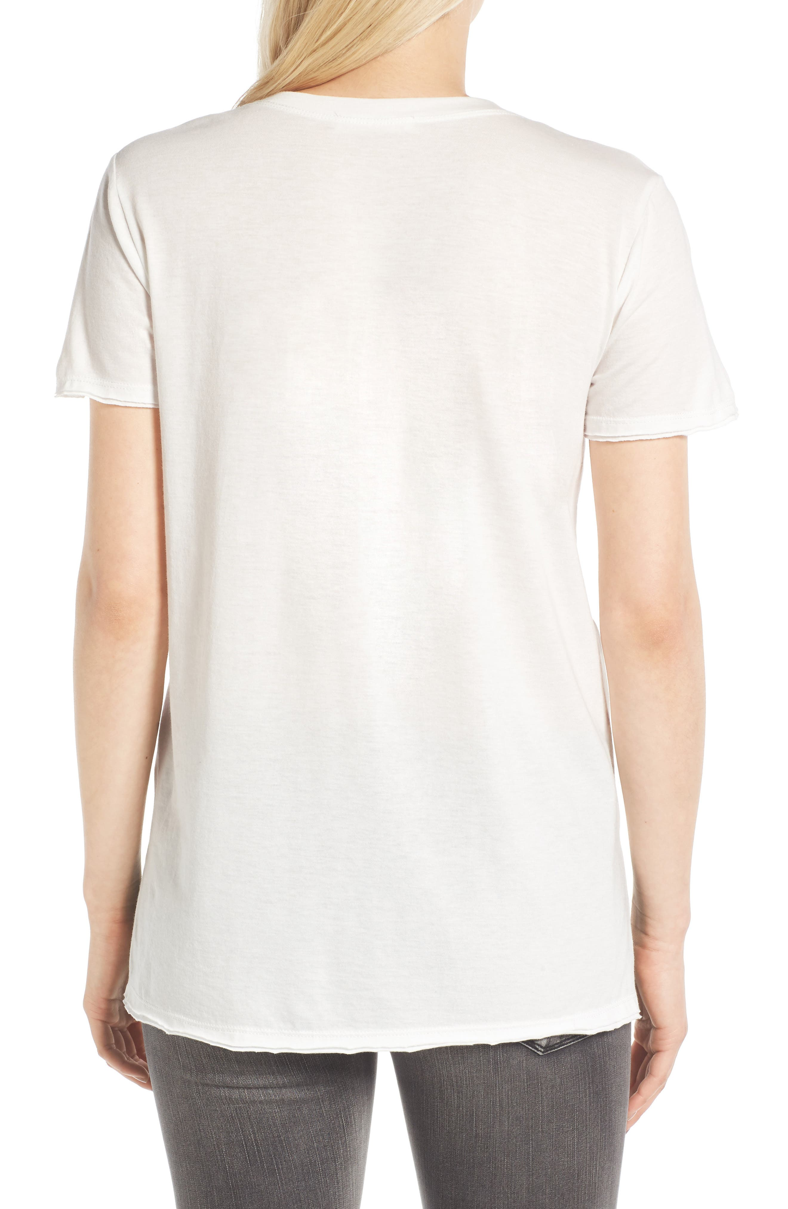 ,                             Raw Edge Side Slit Tee,                             Alternate thumbnail 32, color,                             100