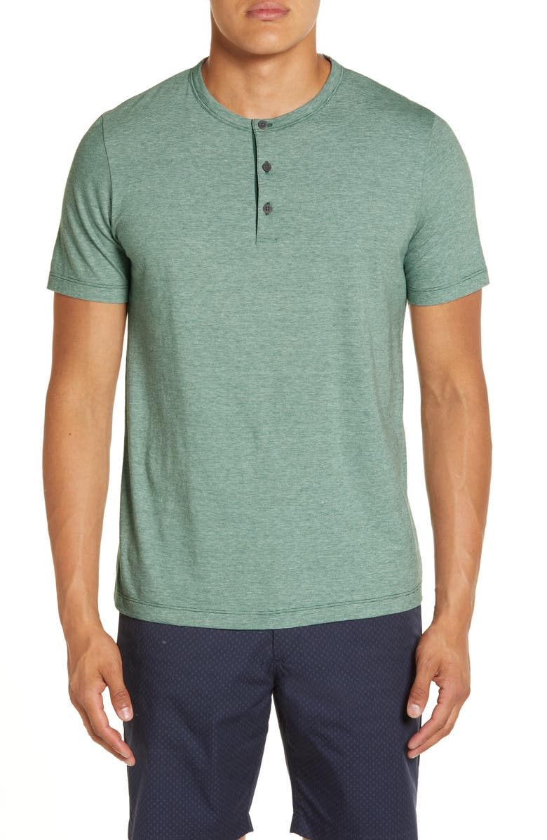 THEORY Slim Fit Knit Henley, Main, color, CANOPY MULTI