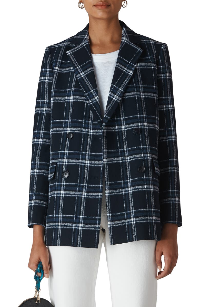 Double Breasted Check Blazer by Whistles