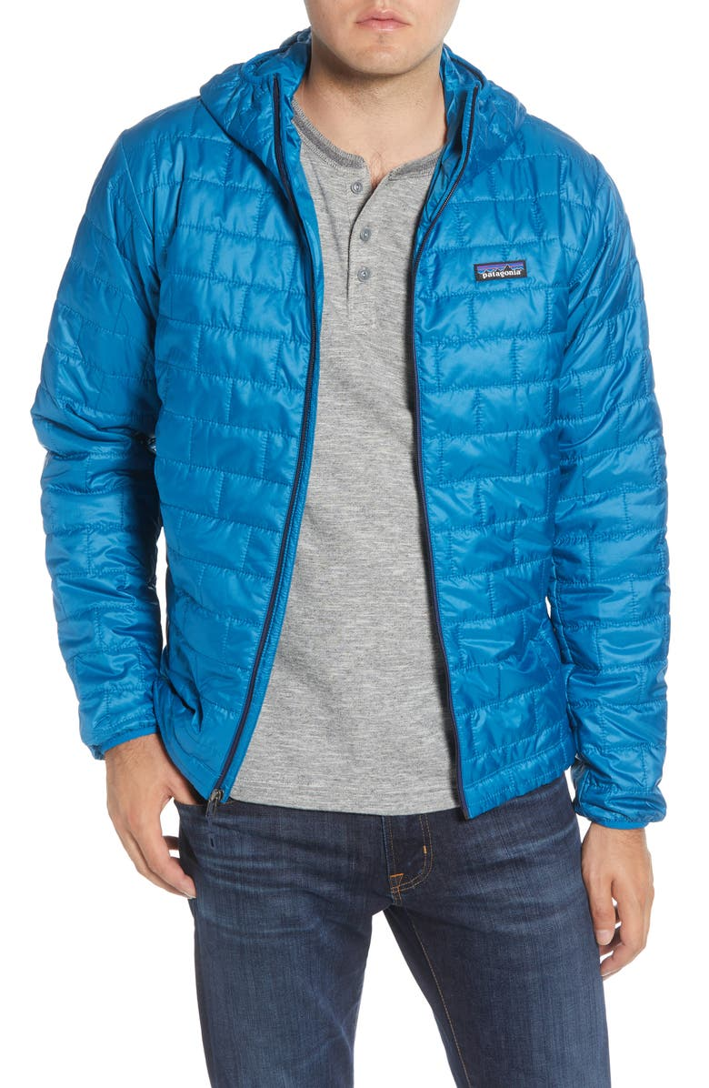 PATAGONIA Nano Puff<sup>®</sup> Hooded Jacket, Main, color, BALKAN BLUE