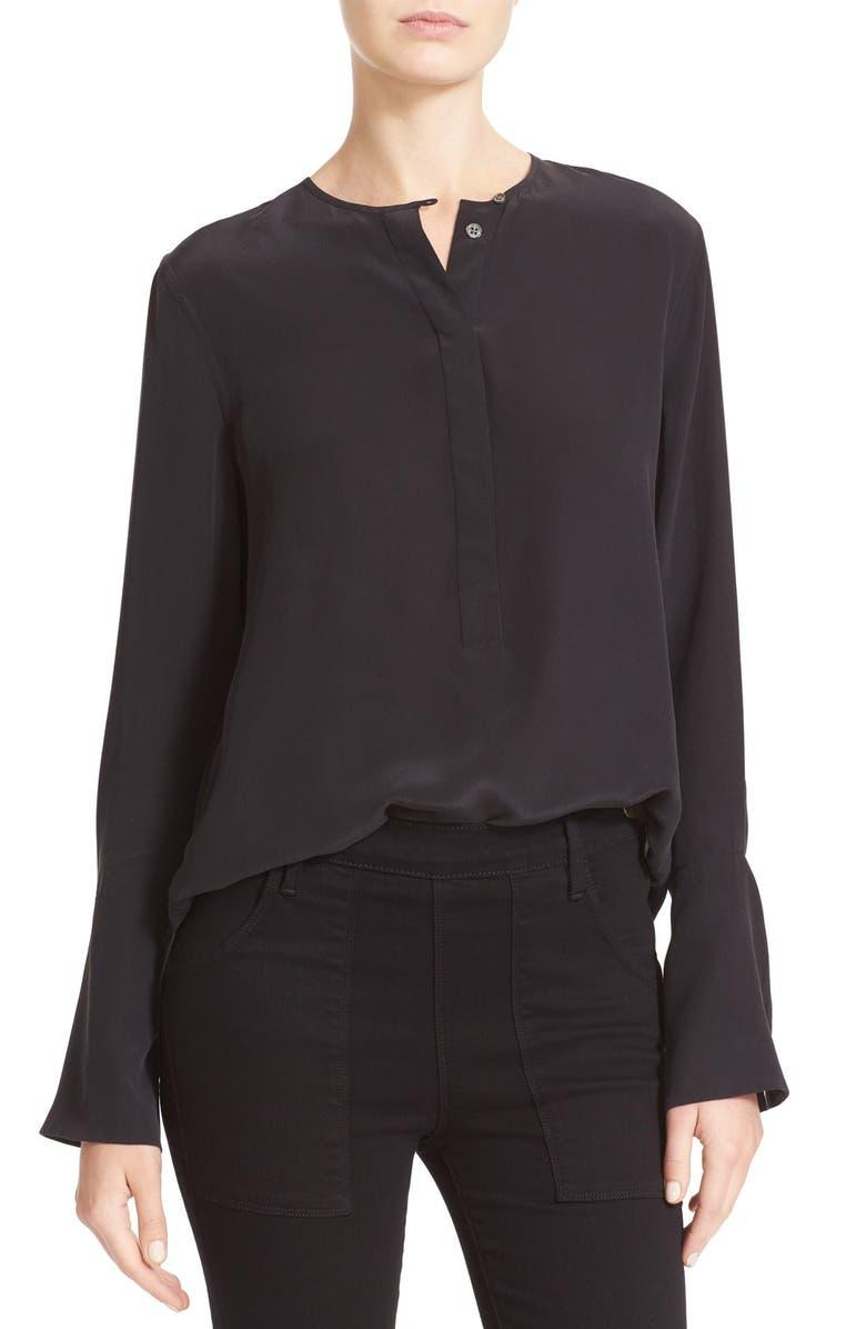 EQUIPMENT Kenley Bell Cuff Silk Blouse, Main, color, 003