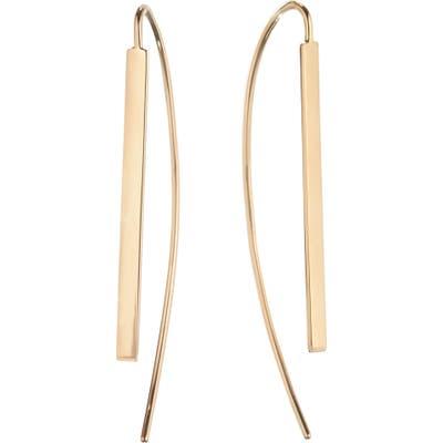 Lana Jewelry Small Flat Bar Hooked On Hoop Earrings