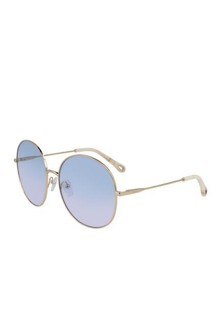 Image of Chloe 60mm Eliza Classic Round Sunglasses