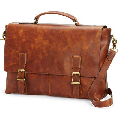 Frye Logan Leather Briefcase - Brown