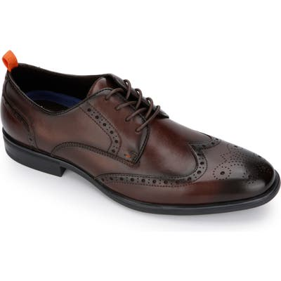 Kenneth Cole Reaction Edge Flex Wingtip, Brown
