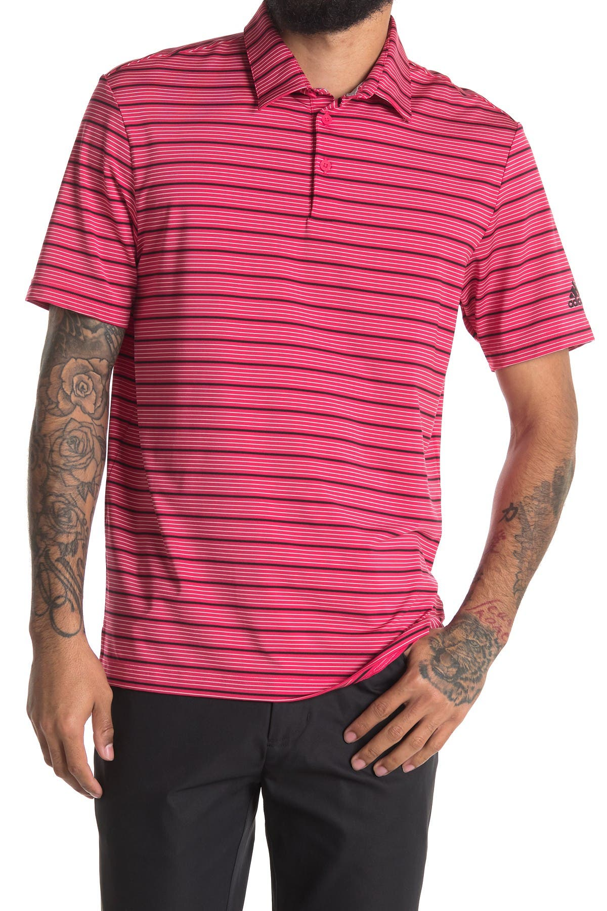Image of Adidas Golf Ultimate365 Pencil Stripe Polo Shirt