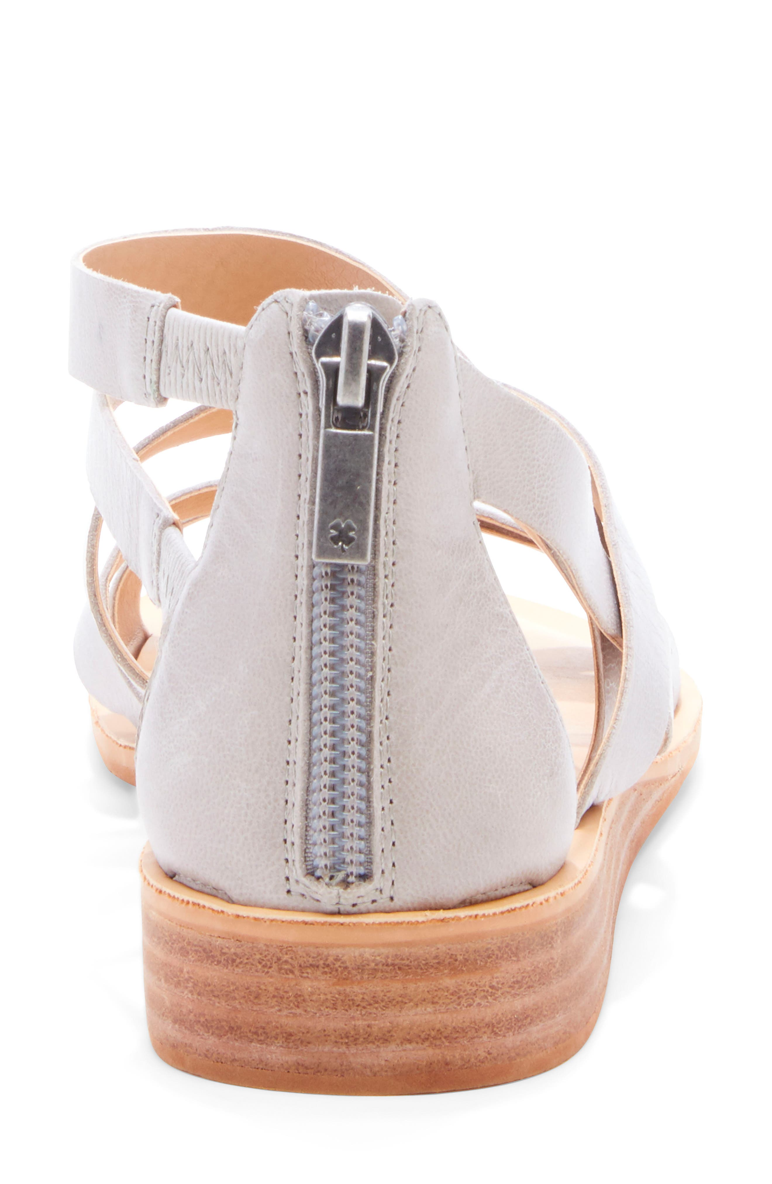 ,                             Helenka Strappy Wedge Sandal,                             Alternate thumbnail 7, color,                             CHINCHILLA LEATHER