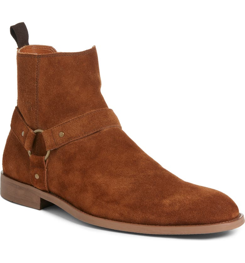 BP. x Alex Costa Westwood Tall Boot, Main, color, CHESTNUT SUEDE