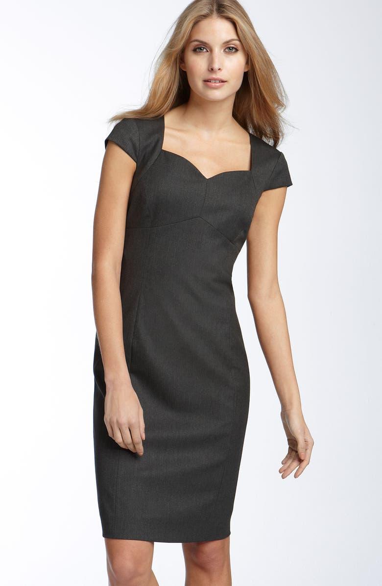 TAHARI by Arthur S. Levine Herringbone Sheath Dress, Main, color, 050