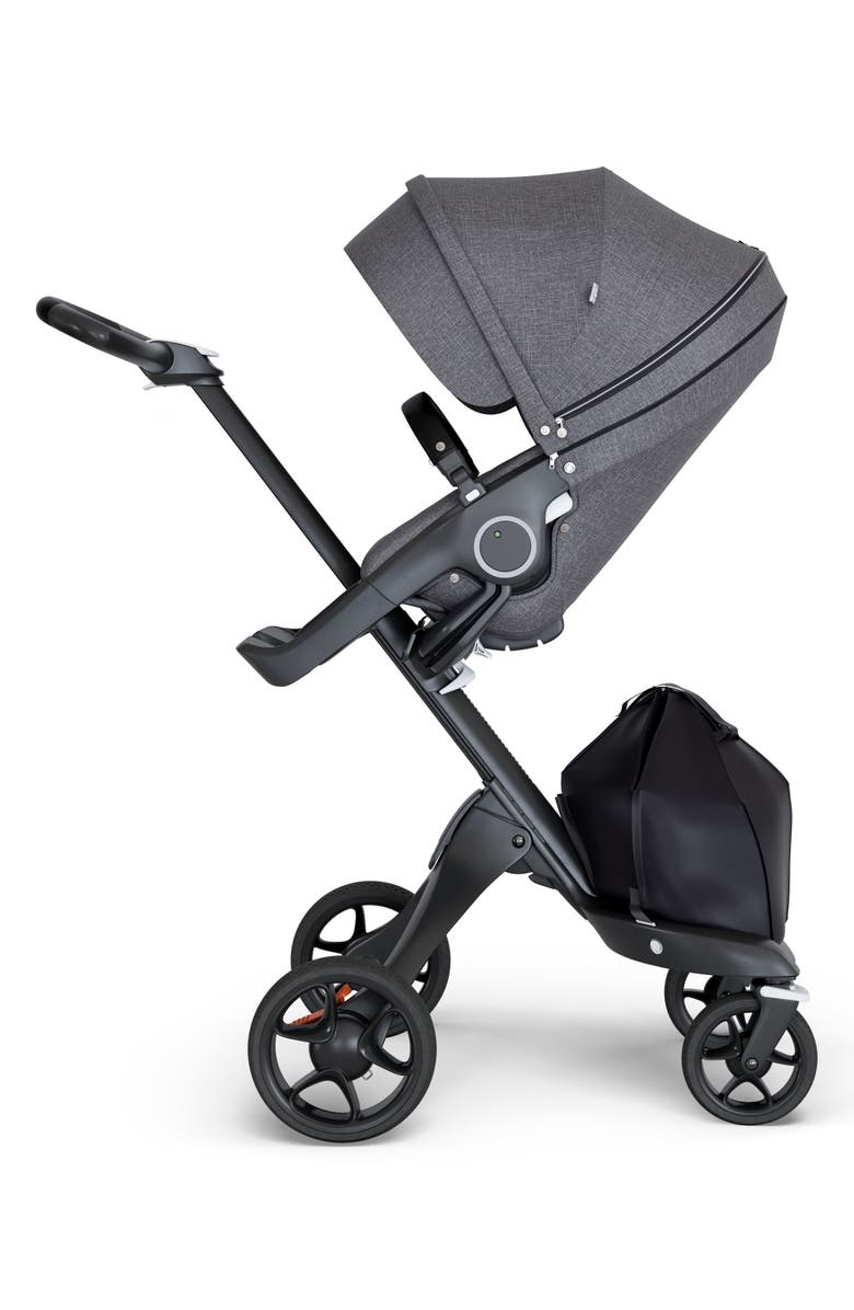 STOKKE Xplory<sup>®</sup> Black Chassis Stroller, Main, color, BLACK MELANGE