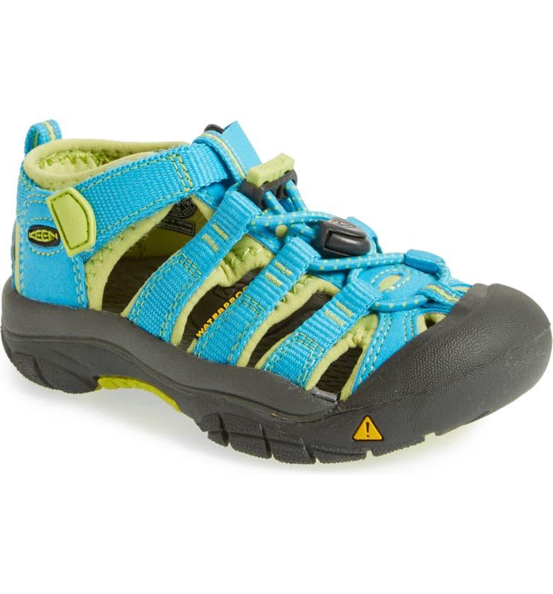KEEN 'Newport H2' Water Friendly Sandal, Main, color, HAWAIIAN BLUE/ GREEN GLOW
