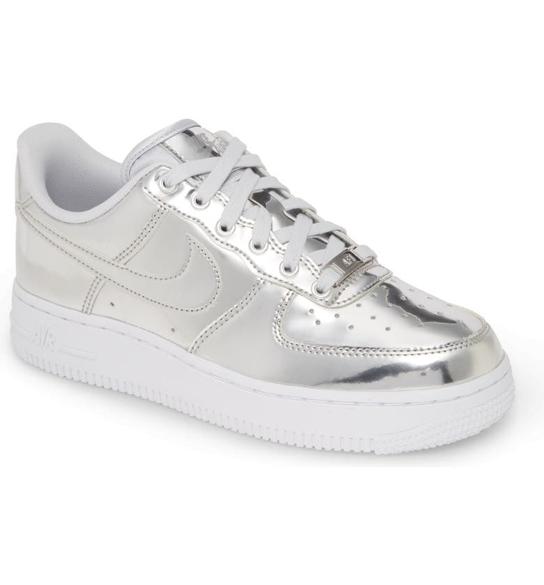 air force 1 metallic silver