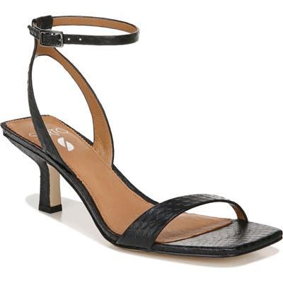 Sarto By Franco Sarto Bona Ankle Strap Sandal- Black