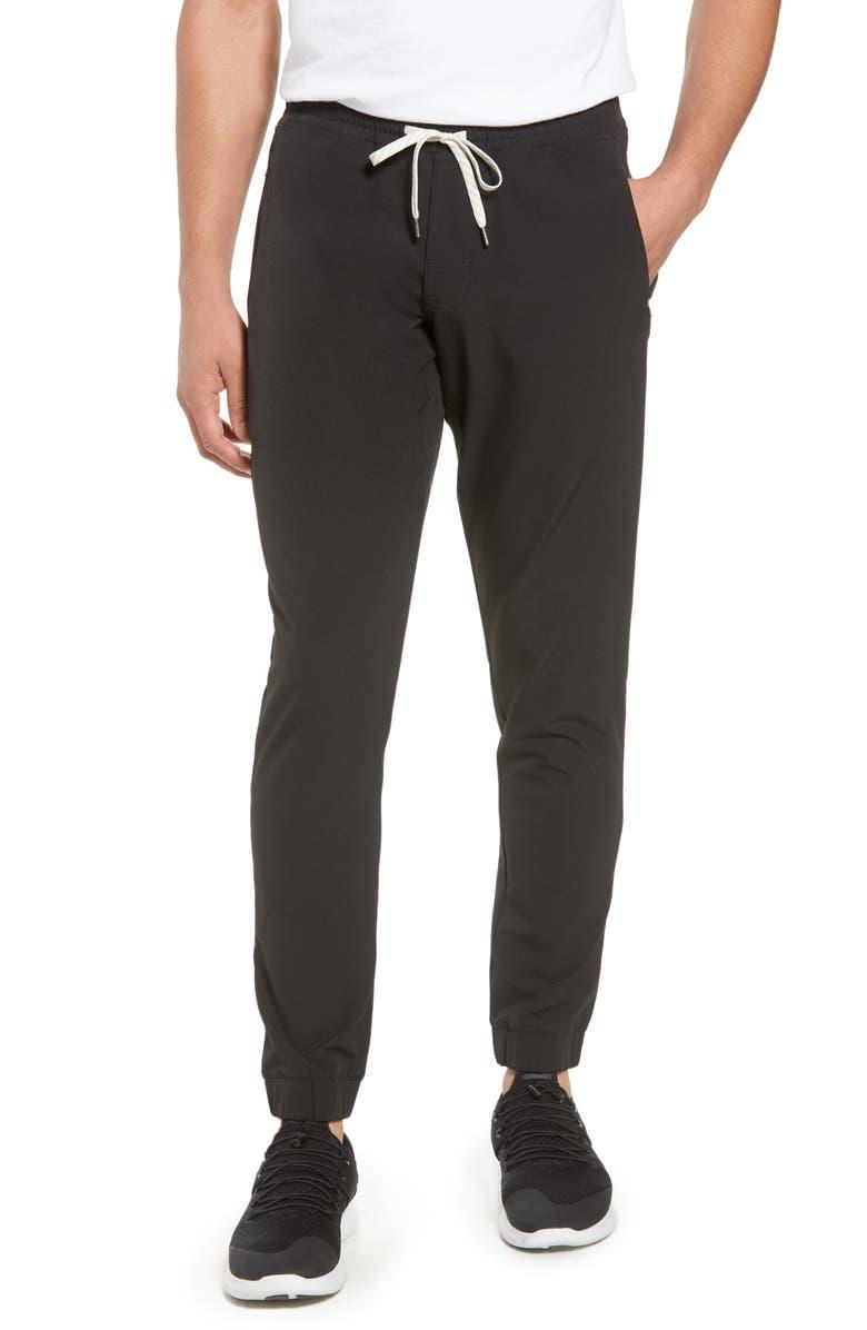 VUORI Transit Slim Fit Jogger Pants, Main, color, BLACK