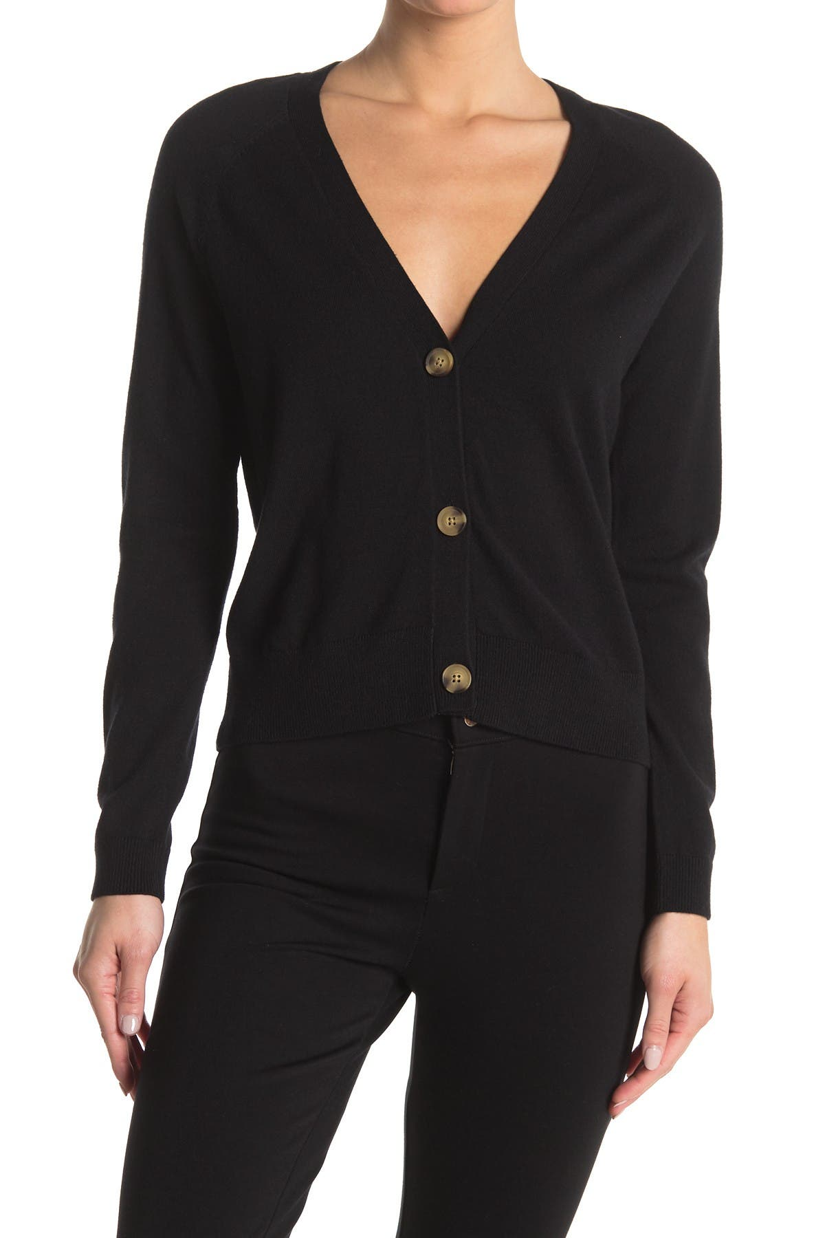 Image of philosophy V-Neck Button Front Knit Cardigan