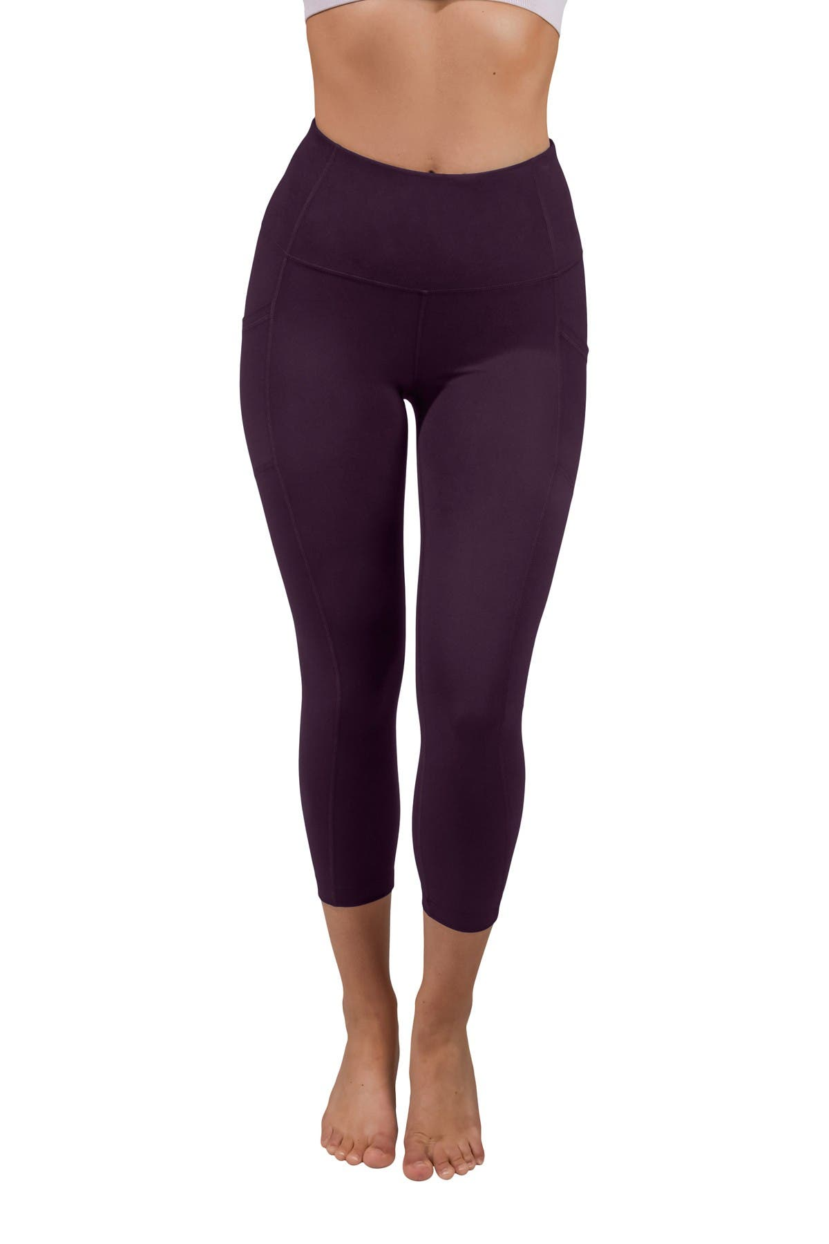 Image of 90 Degree By Reflex Lux High Rise Side Pocket Capri Leggings