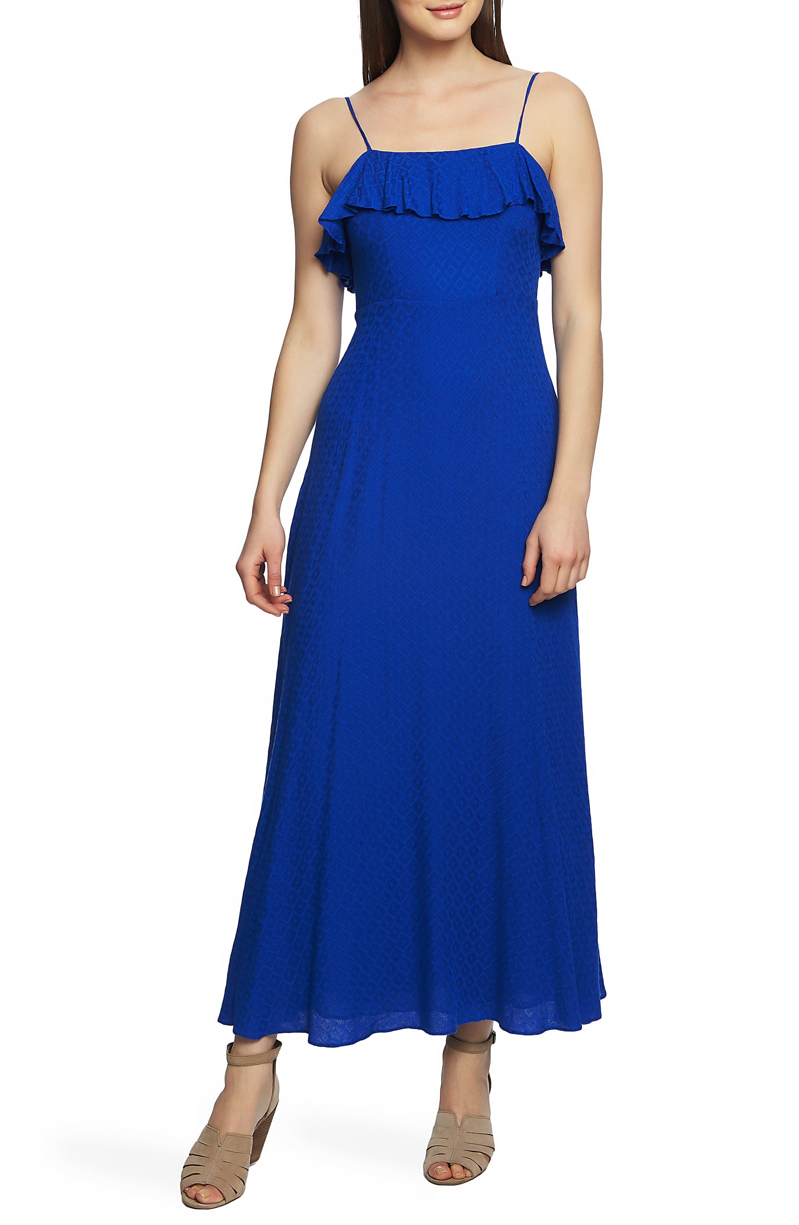 1.state Spaghetti Strap Maxi Dress, Blue