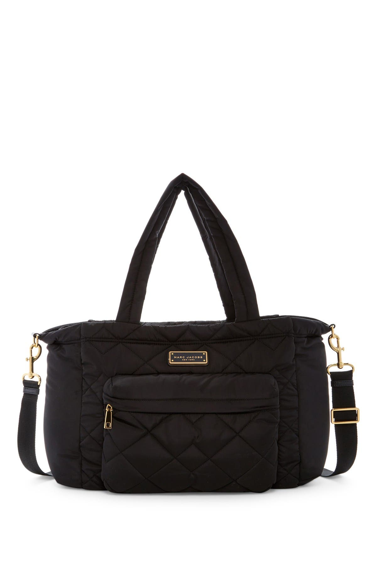 Image of Marc Jacobs Quilted Nylon Baby Bag & Changing Pad