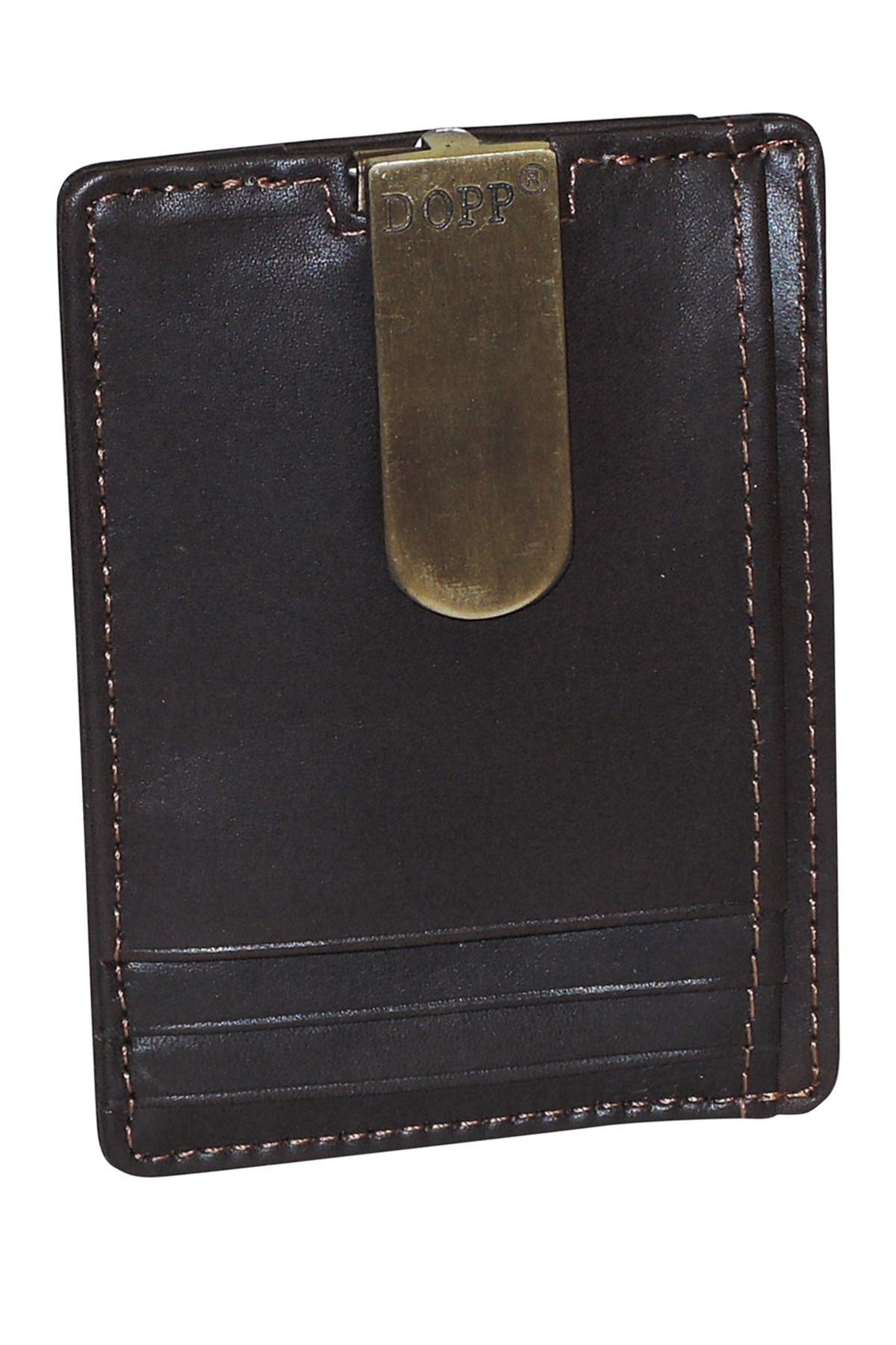 Image of Dopp Front Pocket Money Clip Leather Card Holder