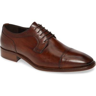 Johnston & Murphy Cormac Cap Toe Derby- Brown