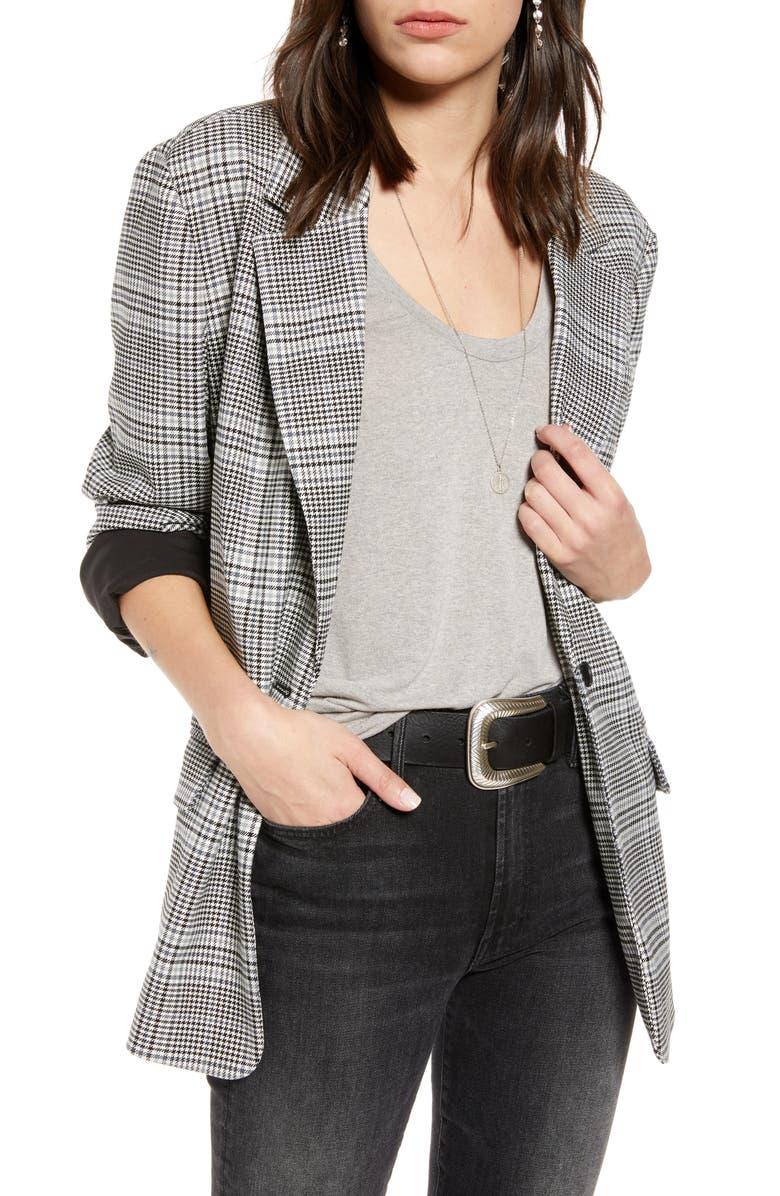 TREASURE & BOND Oversize Patterned Blazer, Main, color, 001
