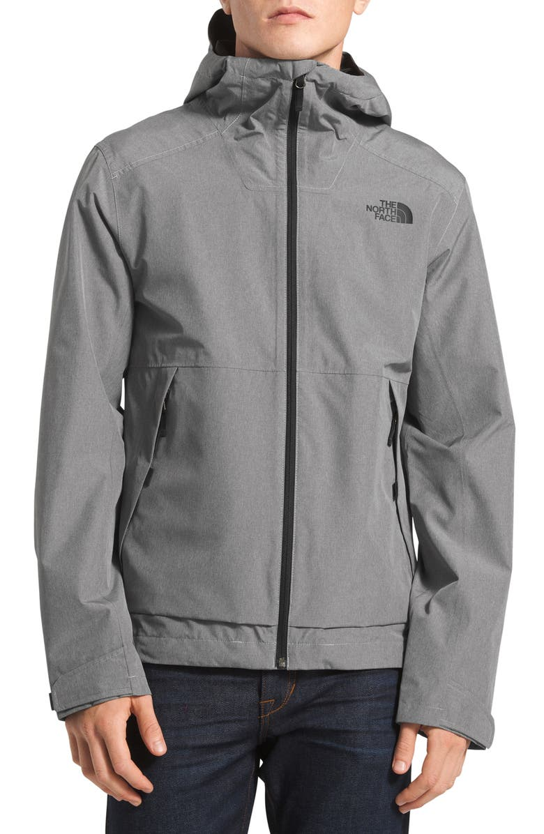 THE NORTH FACE Millerton Hooded Jacket, Main, color, TNF MEDIUM GREY HEATHER