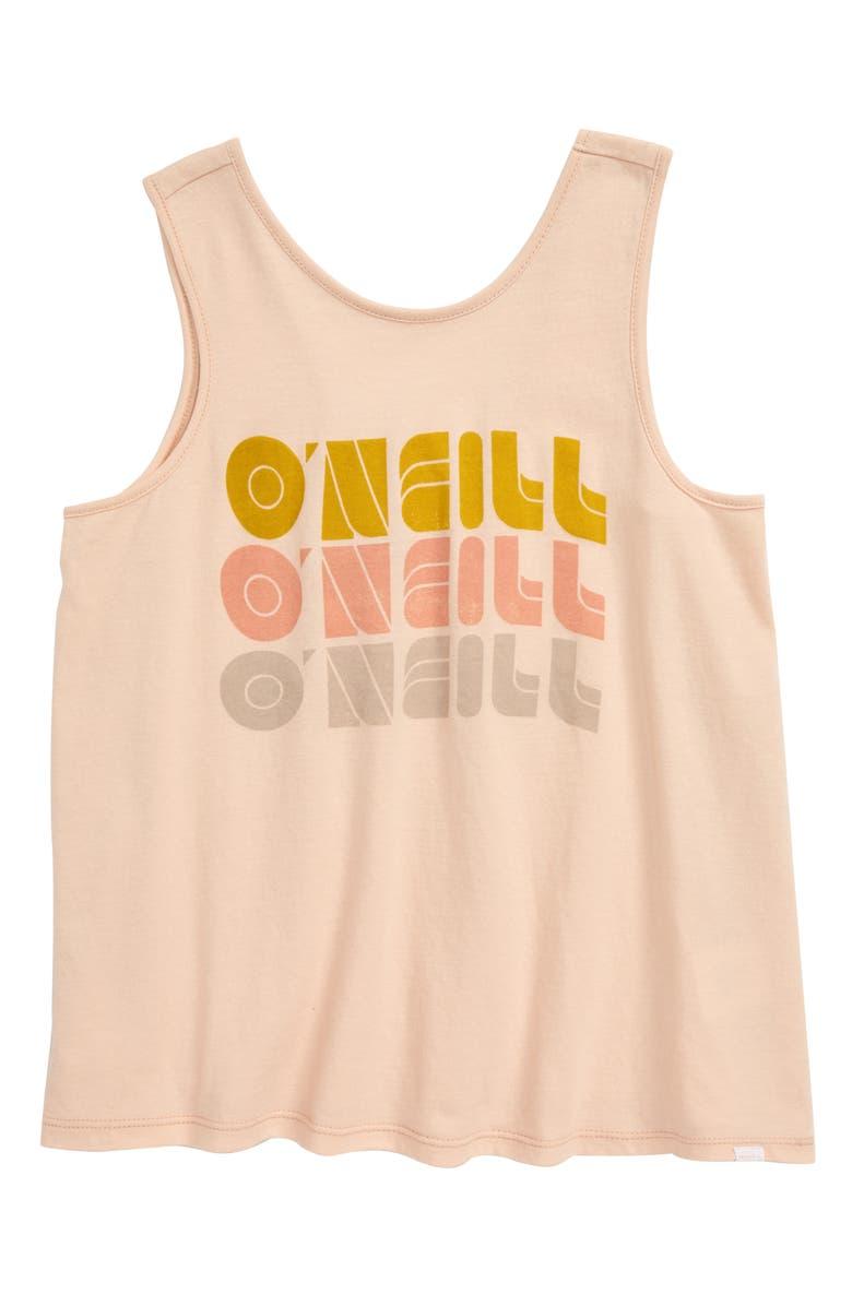 O'NEILL Shape Shifter Screenprint Tank Top, Main, color, BLUSH