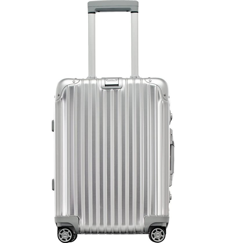 RIMOWA Topas 22-Inch Cabin Multiwheel<sup>®</sup> Aluminum Carry-On, Main, color, 040