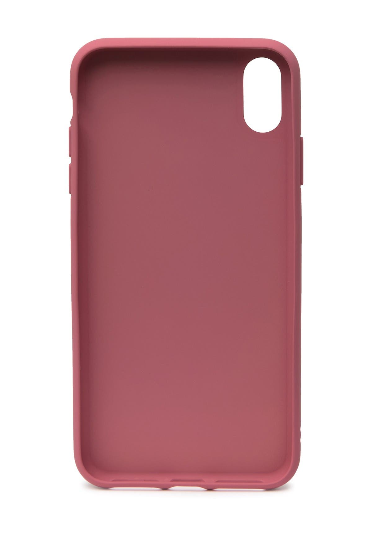 Image of adidas Pink Moulded PU Suede iPhone XS Max Case