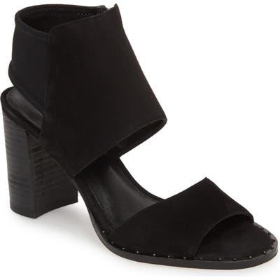 Pelle Moda Grey Sandal- Black