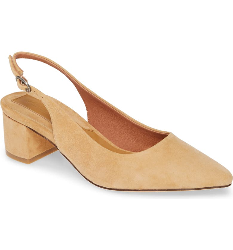 JAGGAR Solace Slingback Pump, Main, color, AMBERLIGHT SUEDE