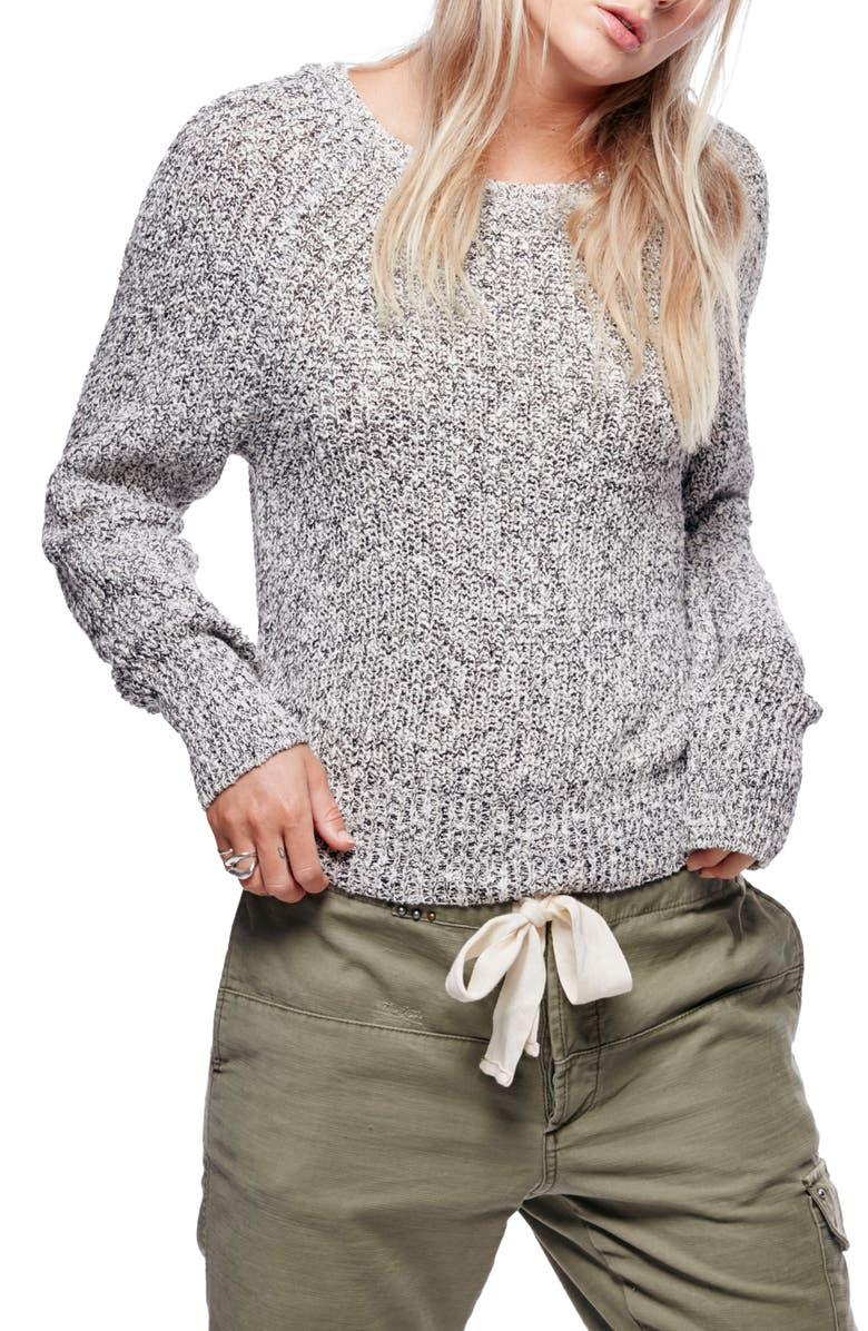 FREE PEOPLE Electric City Pullover Sweater, Main, color, 001