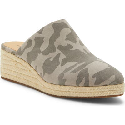 Lucky Brand Lucenia Espadrille Wedge, Grey