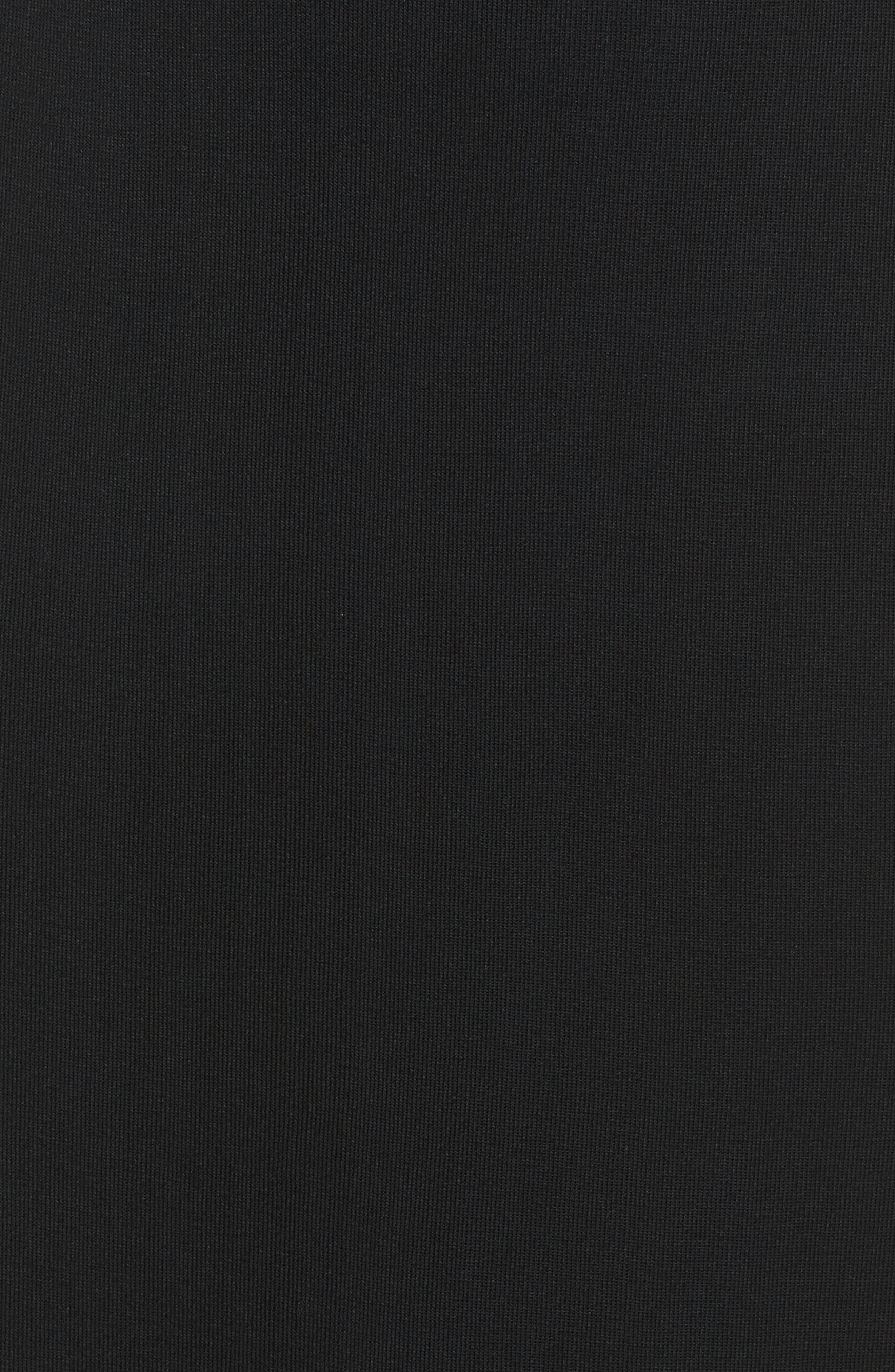 ,                             Ruffle Hem Skirt,                             Alternate thumbnail 5, color,                             BLACK
