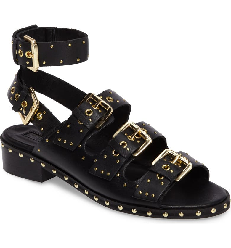 cute on feet images of another chance Frank Studded Buckle Sandal