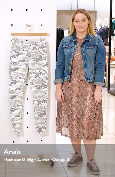 The Stiletto Camo High Waist Ankle Skinny Jeans, sales video thumbnail