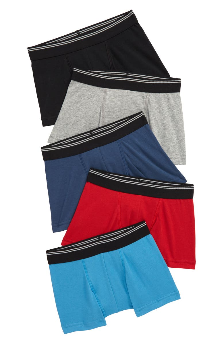 TUCKER + TATE Assorted 5-Pack Boxer Briefs, Main, color, ESSENTIAL SOLID PACK